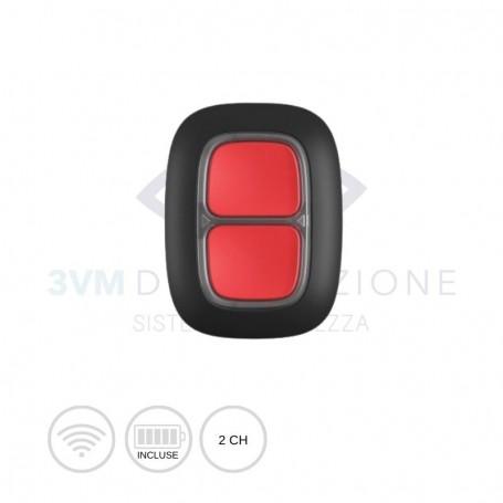 Pulsante di emergenza wireless Double ButtonPulsante di emergenza wireless Double Button Nero 23002 Ajax Systems