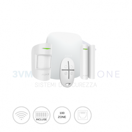 Kit di allarme professionale wireless STARTERKIT bianco 20288 Ajax Systems
