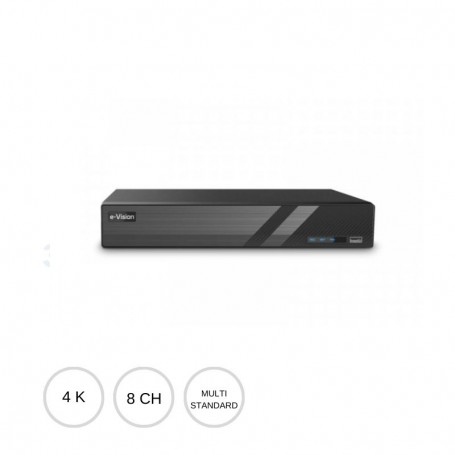 DVR AHD 8 canali 8Mpx 4K PRODVR808A EL.MO.