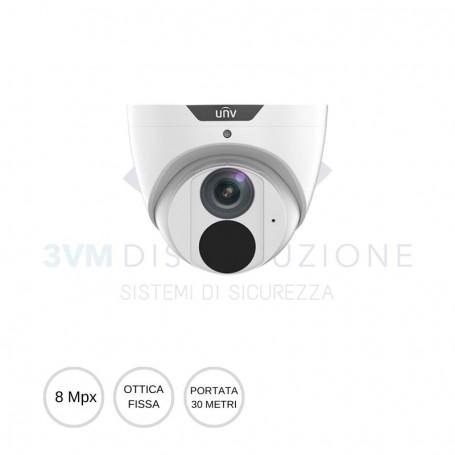 Telecamera Dome Ottica fissa 8 Mpx IPC3618SB-ADF28KM-I0 UNIVIEW