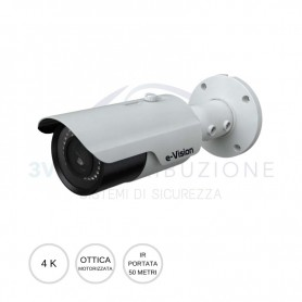 Bullet IP 4K ottica varifocal 3,3-12mm EL.MO.